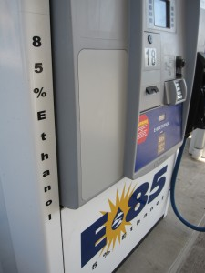 E85 is composed of 51%-83% ethanol and is used in flexible fuel vehicles.